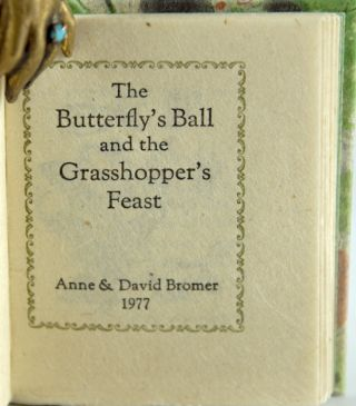The Butterfly's Ball and the Grasshopper's Feast.
