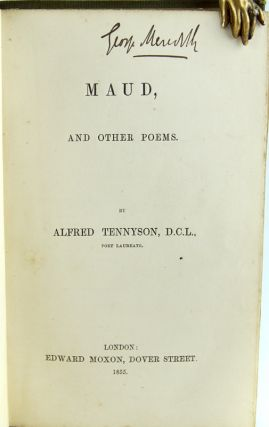 Maud, and Other Poems. Alfred Tennyson, Lord
