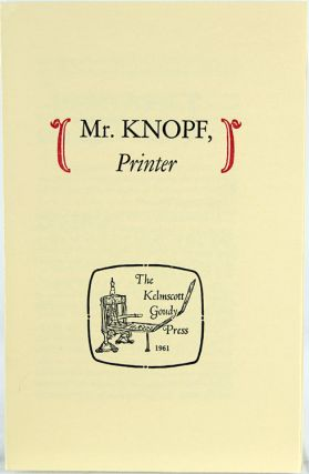 A Keepsake for Alfred A. Knopf.