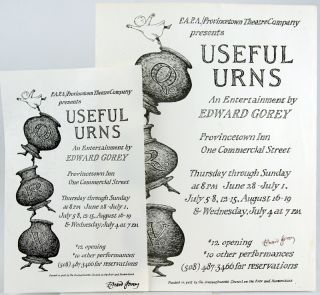 """Two Broadsides Advertising """"Useful Urns"""""""