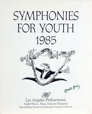 Schedule of Events of Symphonies for Youth, 1985