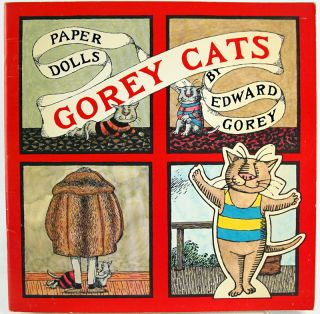 Gorey Cats Paper Dolls. Edward Gorey