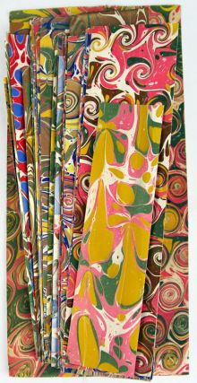 Forty marbled paper specimens. Arthur Gisbourne