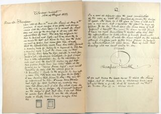 Letter from Maxfield Parrish to Mr. Thompson, August 15, 1899.