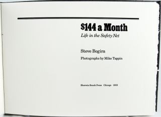 $144 a Month: Life in the Safety Net.