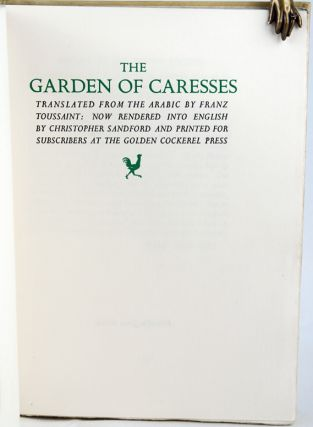 The Garden of Caresses.