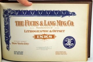 Catalog of Offset Lithography Inks.