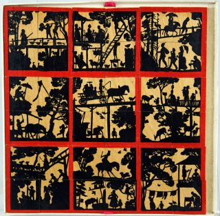 Mosaic: A Silhouette Puzzle of the Swiss Family Robinson.