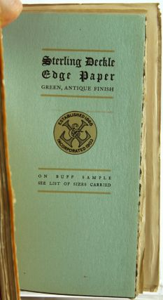 Specimens of Fine Book Papers.