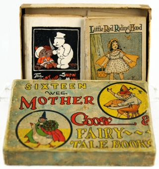 Sixteen Wee Mother Goose Fairy-Tale Books