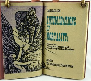 Intimidations of Mortality: Poems on Victorian Themes with Psychological Implications. Morris Cox