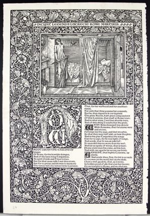 Leaf from the Kelmscott Chaucer with an Essay on its Commercial History by John Windle. John Windle