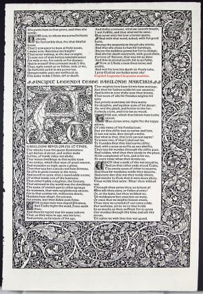 Leaf from the Kelmscott Chaucer with an Essay on its Commercial History by John Windle.
