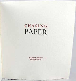 Chasing Paper.