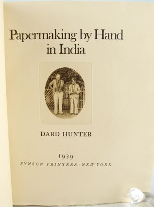 Papermaking by Hand in India.