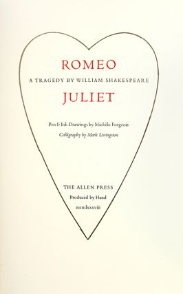 Romeo and Juliet: A Tragedy.