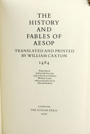 The History and Fables of Aesop.
