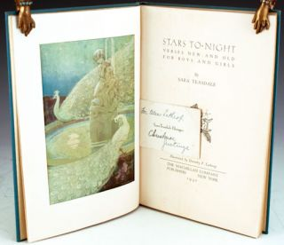 Stars To-Night: Verses New and Old for Boys and Girls. Sara Teasdale.